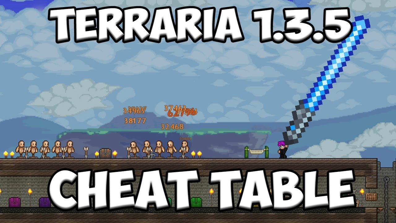 Terraria 1 3 5 3 Cheat Table - Edit Item Values, Characters and More!