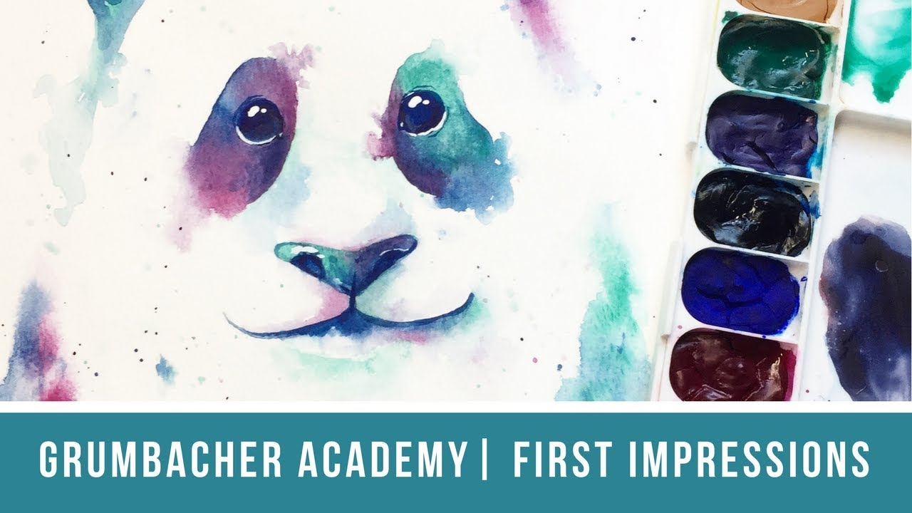 grumbacher academy watercolor first impressions color swatches and