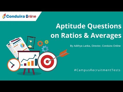 Aptitude Questions on Ratios & Averages for Campus Recruitment Tests