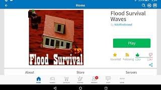 Roblox: Flood Survival Waves (On the kindle fire hd 7)