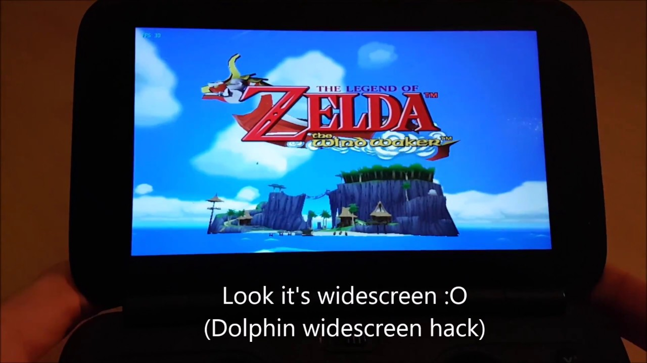Wind waker full speed on a handheld gpd win a real for Housse zelda nintendo switch