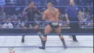 WWE Friday Night Smackdown 08/02/15  Batista VS MVP Part 1