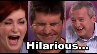 Best Judges Can't Stop LAUGHING Hilarious Auditions! Try Not To Laugh  )