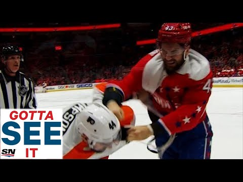 GOTTA SEE IT: The Best Of Tom Wilson's Multiple Hits & Fights Against Flyers