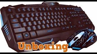 Unboxing-Kit tastatura + mouse Marvo KM800