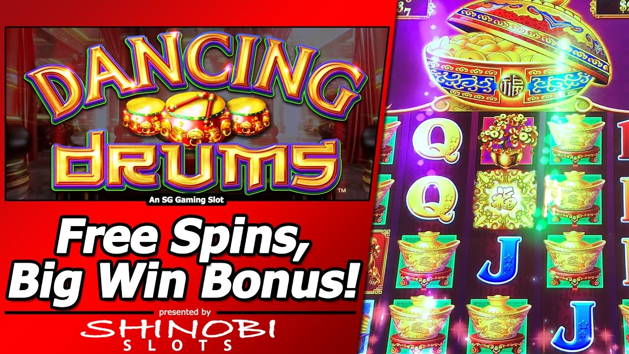 Dancing Drums Slot Free Spins Big Win Bonus In First