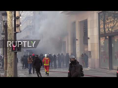France: Champ-Elysees shops burn as Yellow Vests run riot