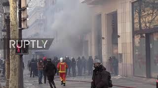 France: Champ-Elysees shops burn as Yellow Vests run riot