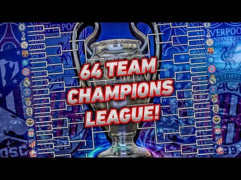 ADDING 64 TEAMS TO THE CHAMPIONS LEAGUE!! FIFA 19 Career Mode