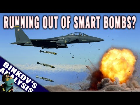 When would US run out of smart bombs in a total war?
