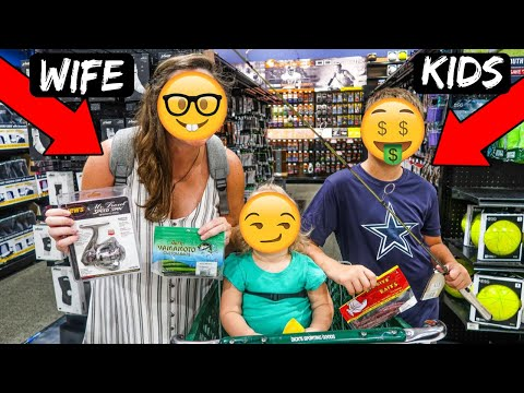 Wife & Kids Pick My Fishing Gear CHALLENGE (They SCREWED Me!!)