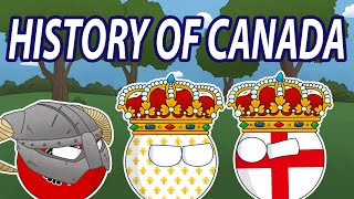 The Early Colonial History of Canada in Countryballs