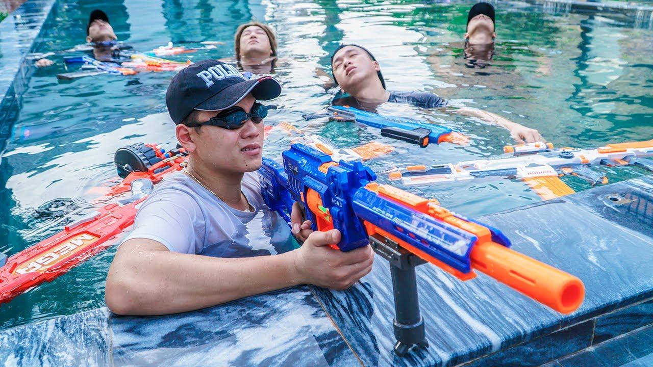 LTT Game Nerf War : Warriors SEAL X Nerf Guns Fight Criminal Group Mr.Zero Crazy Rescue Allies