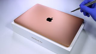 MacBook Air (Gold) Unboxing - ASMR