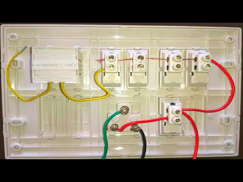 Electrical Board Wiring In Hindi Switchboard Wiring Connection Youtube