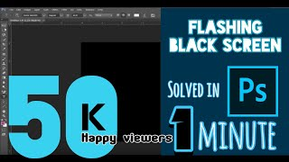 Learn How to Fix photoshop black background error | Simple Guide