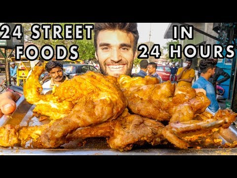Eating 24 INDIAN STREET FOOD DISHES in 24 HOURS!