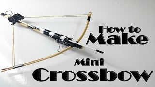 how to make a mini crossbow with simple steps ( DIY archery) home made  toy crossbow