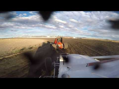 Wingless Sprint Series Heat Race - Rob Lindsey GoPro -Madras Speedway 9-3-16