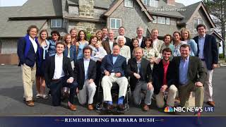 Barbara Bush honored for her humor and warmth at funeral in Houston