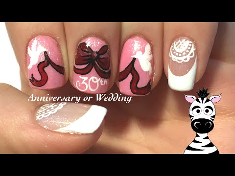 Anniversary Nail Art Design Tutorial Request Wedding