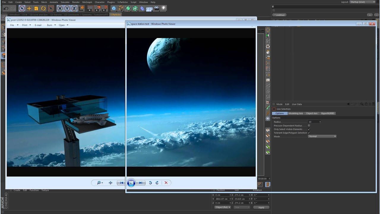 & Cinema 4D Tutorial - Space Lighting - Part 1 - Modeling - YouTube azcodes.com