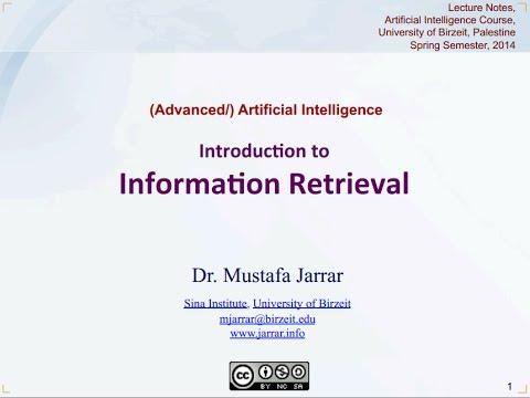 Jarrar: Introduction to Information Retrieval (Part 1/5)