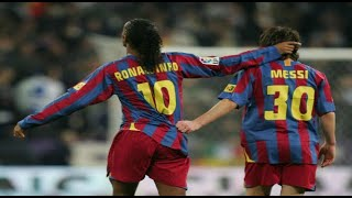 Lionel Messi - First Goal for Barcelona - 2005