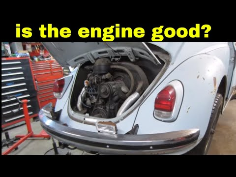 68 barn find vw bug, engine and brake problems.