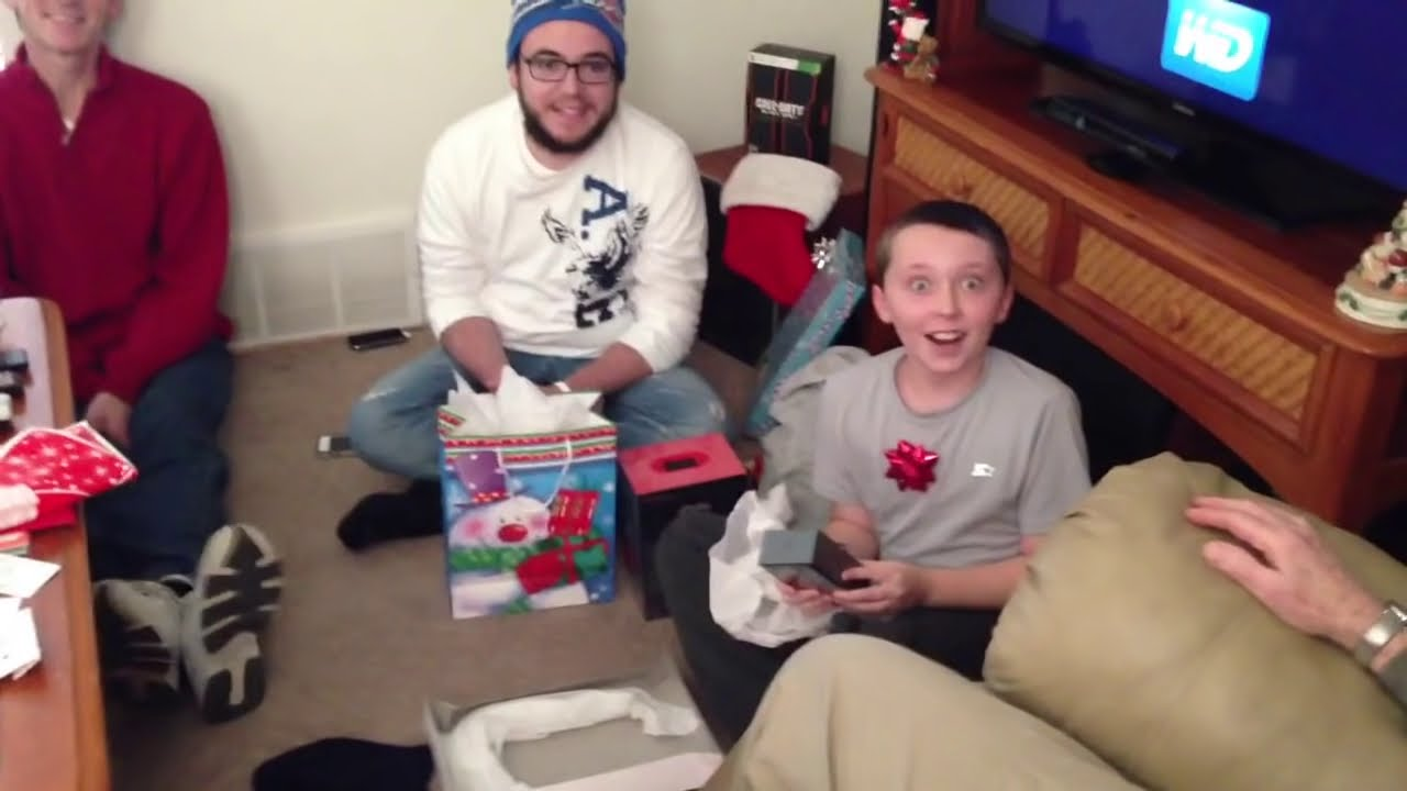 my 11 year old son opens an iphone 5 best christmas surprise youtube - What To Get An 11 Year Old For Christmas