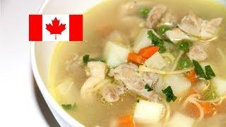 Сhicken Noodle Soup. Очень вкусный куриный суп с лапшой.Канадская кухня.