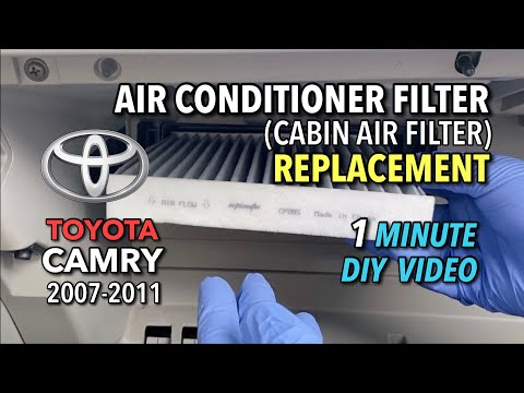 Toyota Camry 2007-2011 AC Air Filter Replacement – 1 Minute DIY Video