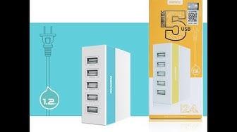 Review | Củ Sạc 5 Ổ USB REMAX RU-U1 Chính Hãng | ty van [ #DVT ]