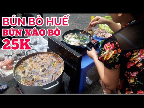 BÚN BÒ HUẾ, BÚN XÀO CHỢ HẺM NGUYỄN THÔNG THẾ MÀ NGON   saigon travel Guide