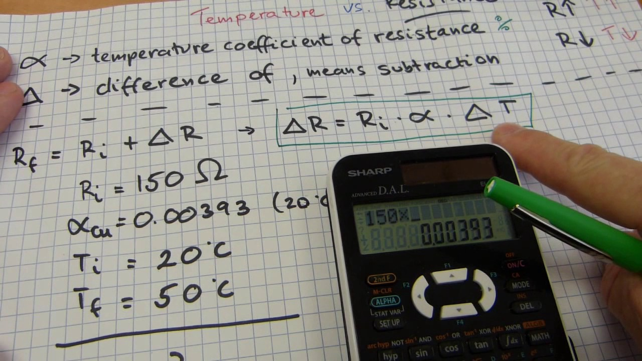 Temperature Vs Electrical Resistance Calculations Youtube And Resistors