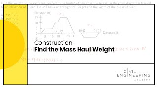 Construction - Find the Mass Haul Weight
