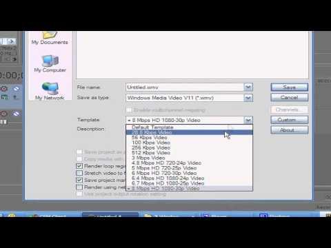 Hướng Dẫn Xuất Clip ra bằng Sony Vegas Pro 9 [HD]