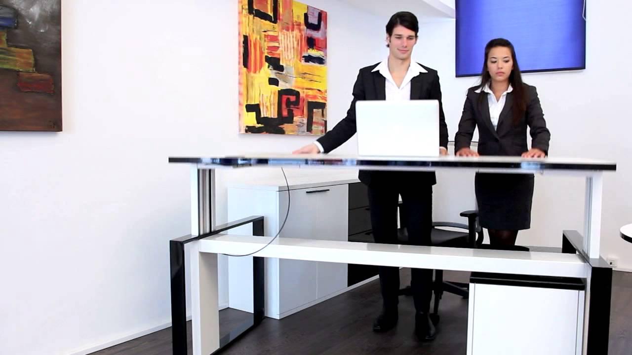 Höhenverstellbarer Schreibtisch: die Büromöbel iMOVE-C/-F von ...