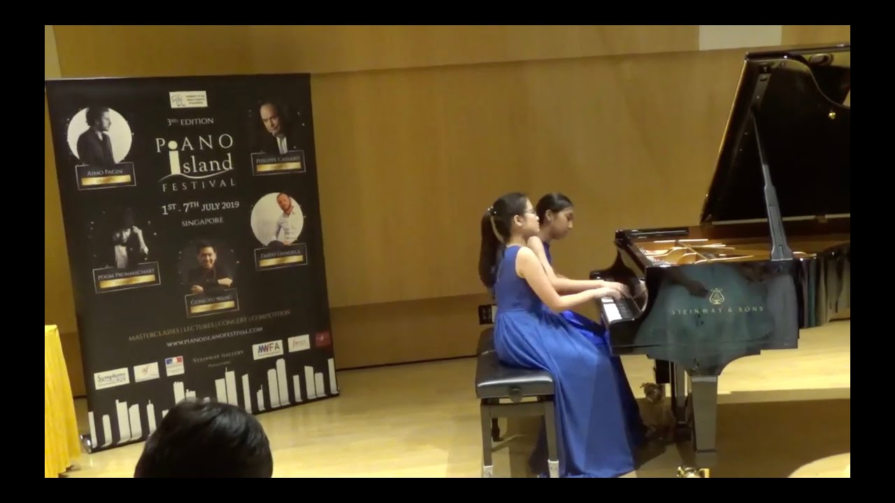 Ashley Ng (12) and Kelsey Wong (12) -Award Ceremony of 3rd Edition Piano  Island Festival 2019