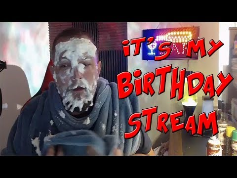 BIRTHDAY STREAM - Pie to the Face, Rubberband Challenge and Karaoke
