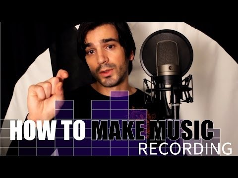 How to record a song!  Recording vocals, guitar and piano.