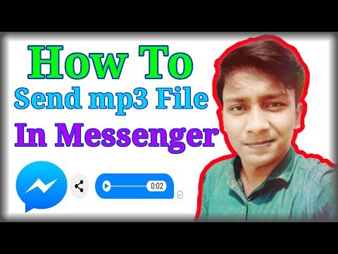How To Send Audio File In Facebook Message || Bangla Tutorial || Send Audio Songs From Messenger