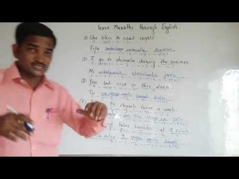 Learn Marathi through English.   Simple Marathi Conversation