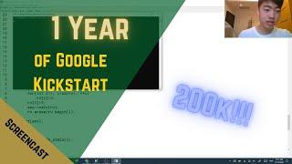 1 Year of Google Kickstart