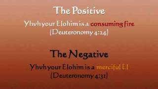 1 3 the positive and negative of elohim