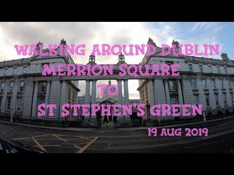 Walking Around Dublin. Merrion Square To St Stephen's Green. Дублин, Ирландия. ORANGE.ua