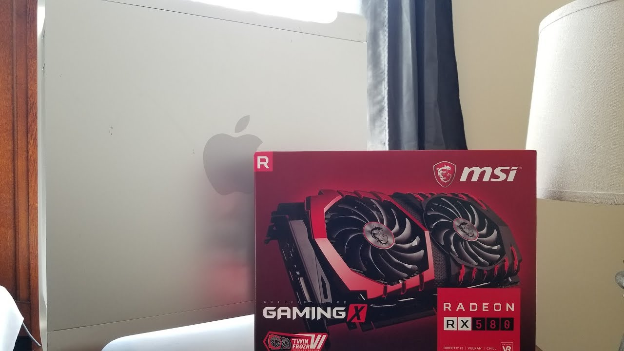 MSI RX 580 Unboxing+Install in Mac Pro!
