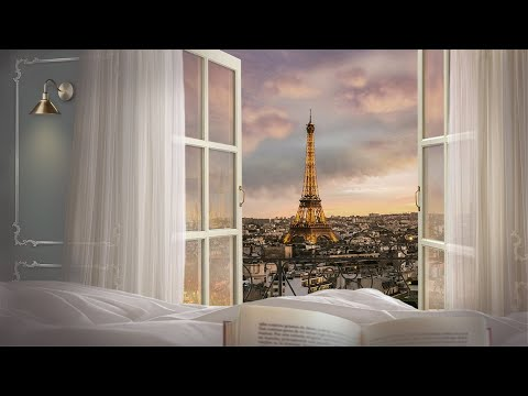 Sunset in Paris Hotel Suites-Vintage Movie, 3D Ambient Sounds, ASMR for Studying, Relaxing, Sleeping