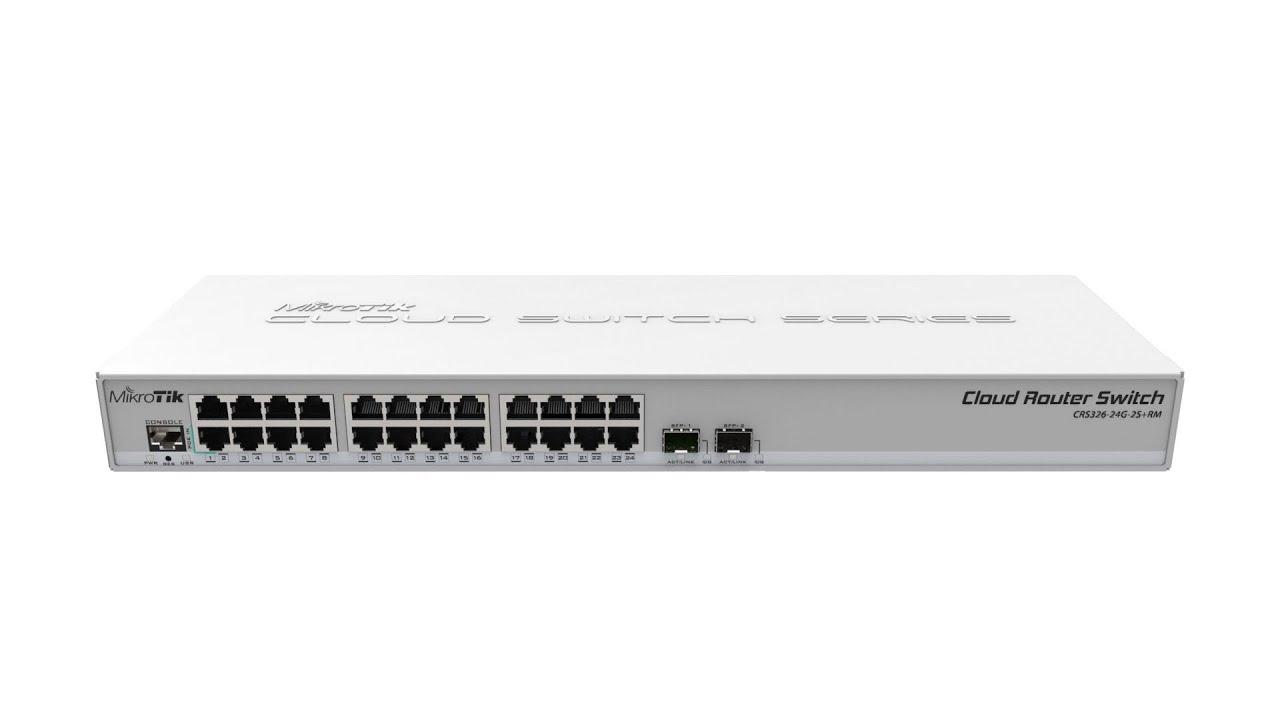 Mikrotik Cloud Router Switch 326 24g 2s Rm Crs326 24g 2s