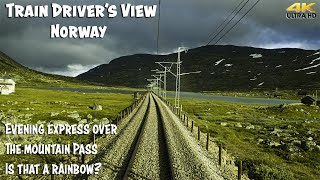 4K CAB VIEW: Evening Express Train over the Mountain pass